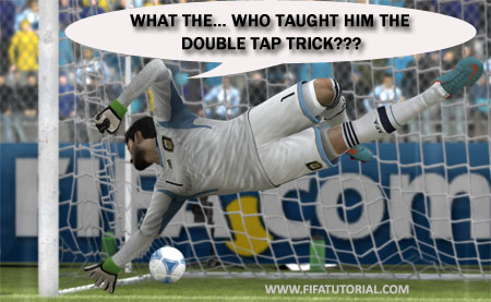 Double tap shoot trick - FIFA 13 tutorial tips